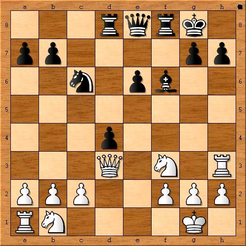 Stellung zwischen 15. Dd3 und 15. … g6