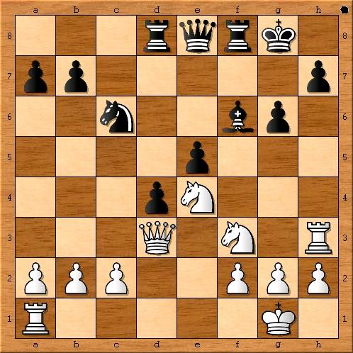 Stellung zwischen 17. Se4 und 17. … Le7